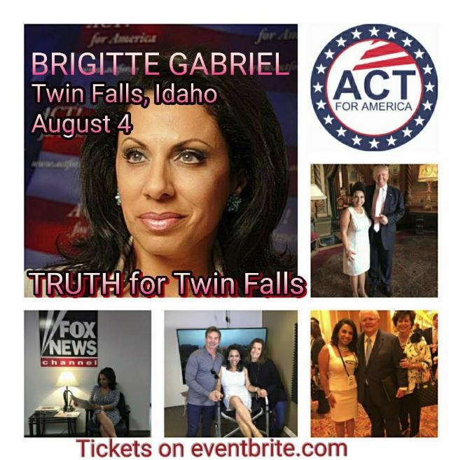 Brigitte Gabriel Coming to Idaho